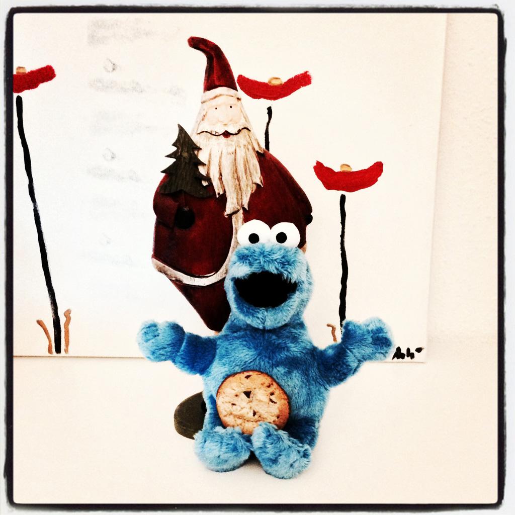 Das Krümelmonster und der Weihnachtsmann